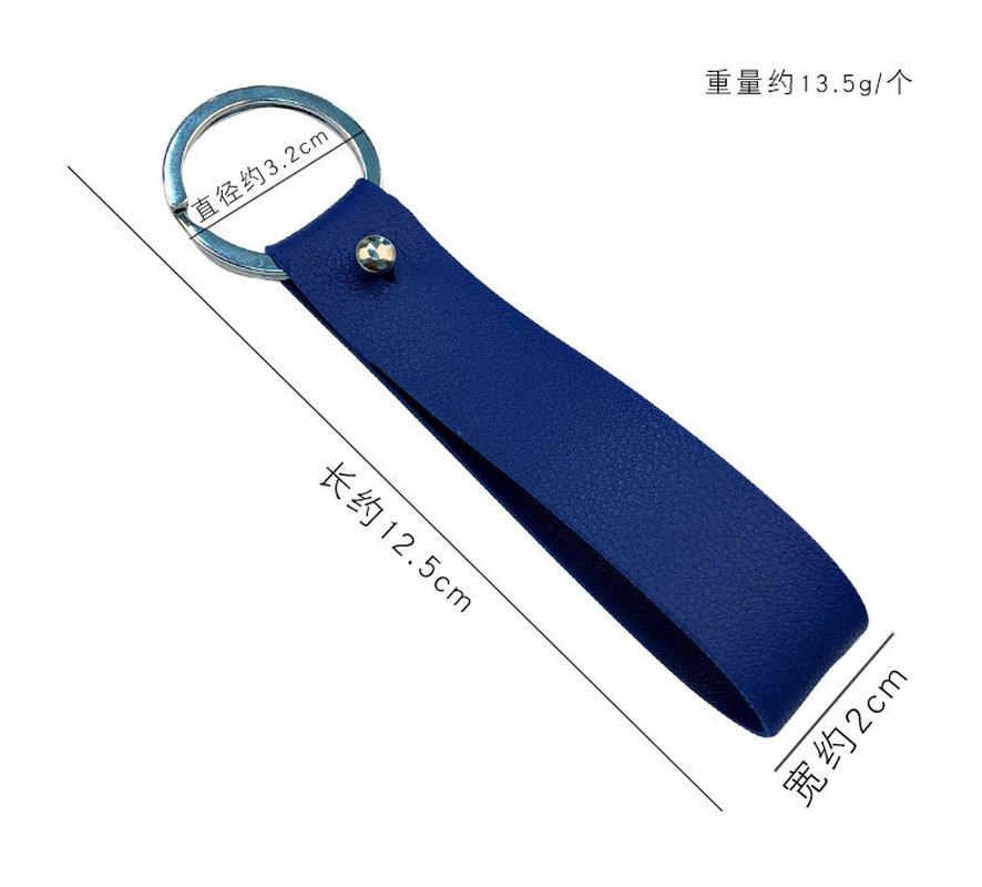 الموضة جلدية بولي Keychain المفاتيح سيارة Llavero بسيطة الرجال والنساء الخصر مفتاح سلسلة عشاق كيرينغ حلية الحبيب حلقة رئيسية بورت المفتاح