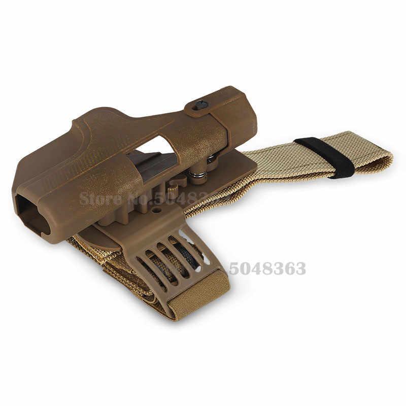 Tactical Auto Loading Pistol Holster Livello 3 di Blocco Automatico Duty Pistola del Piedino di Goccia Coscia Holster per Glock 17 19 23