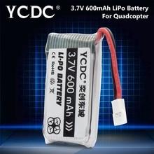 YCDC 3.7V 600mAh Li-Po Battery For WLtoys V931, SYMA X5C X5SC X5SW UDI U45 U45W Drone Quadcopter Batteries for with camera