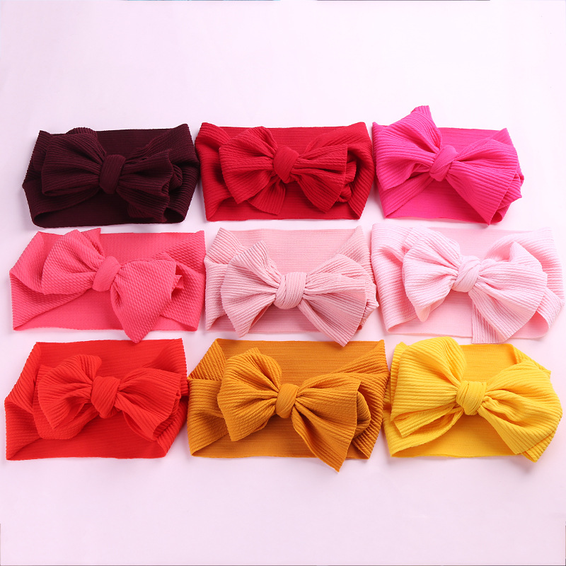 Messy Big Bow Headband For Girls 2019 Solid Large Hair Bows Elastic Turban Head Wraps Kids Top Knot Hairband Hair AccessoriesMessy Big Bow Headband For Girls 2019 Solid Large Hair Bows Elastic Turban Head Wraps Kids Top Knot Hairband Hair Accessories