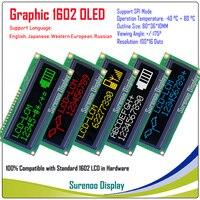 Реального OLED Дисплей, WS0010 100*16 точек Совместимость с 1602 162 символов ЖК-дисплей модуль LCM Экран, поддержка SPI