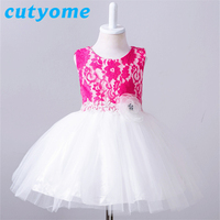 Vintage Baby Girls Baptism Dresses Newborn Infants Princess Lace Tutu Dress for Wedding and 1 Year Birthday Party Kids Clothes