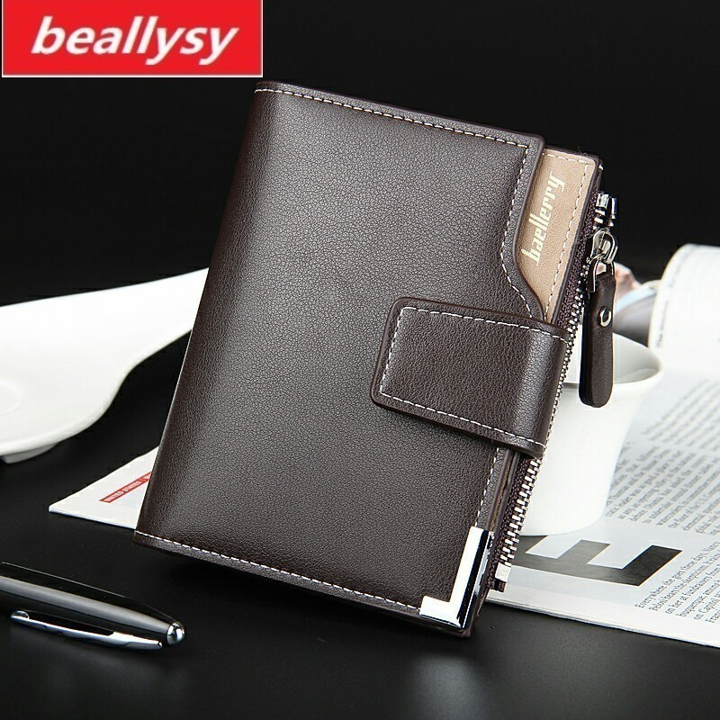 New Wallet brand Short men Wallets PU Leather male Purse Card Holder Wallet Fashion man Zipper Wallet men Coin bag