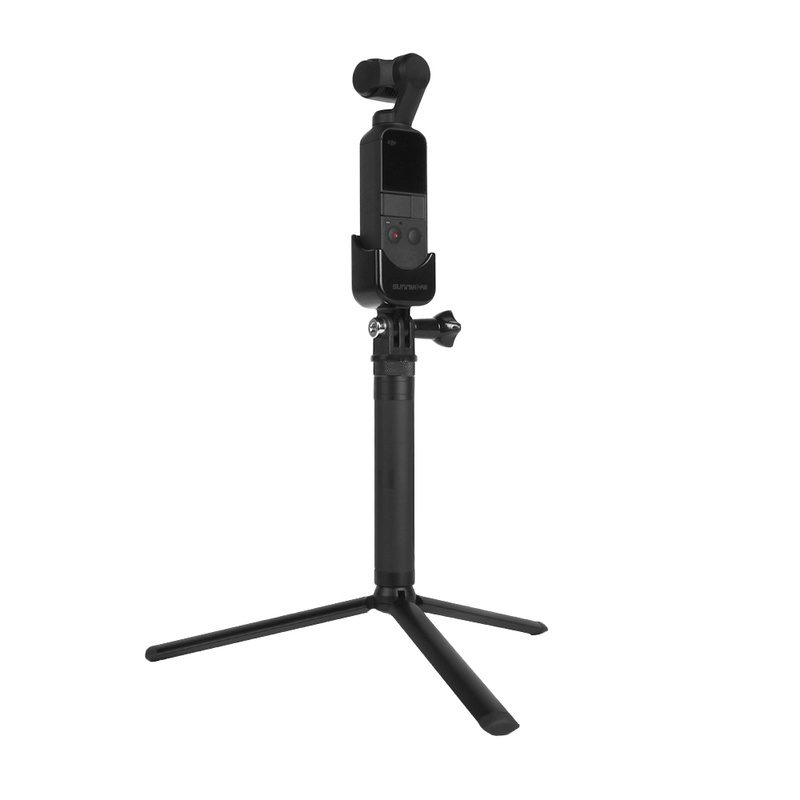 for DJI OSMO Pocket Accessories Selfie Stick Aapter Base Mount OSMO Pocket Tripod Holder for Gopro Action Camera Mounting in Gimbal Accessories from Consumer Electronics
