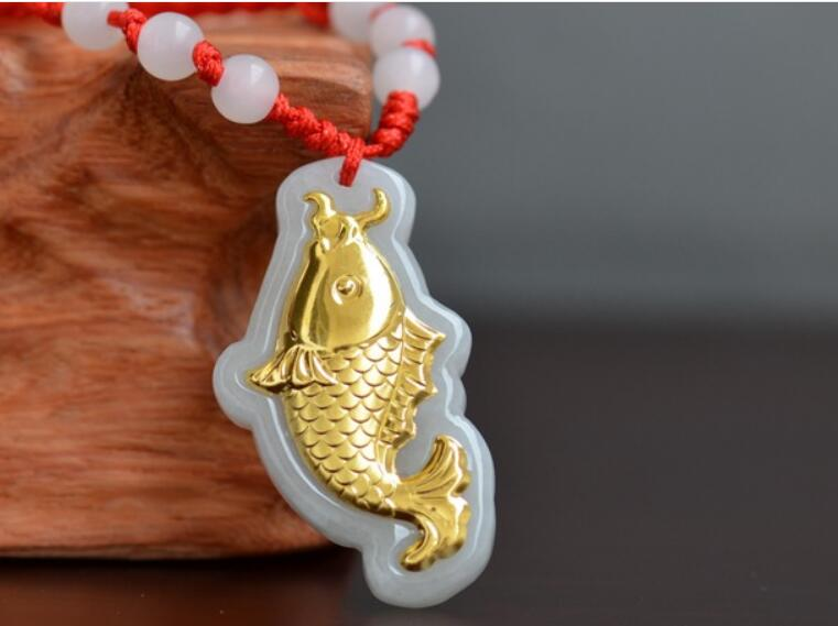 2018 High Quality Natural stone Jades fish Pendant Necklace Lucky Amulet Pendants for Men Women Best Gift P112018 High Quality Natural stone Jades fish Pendant Necklace Lucky Amulet Pendants for Men Women Best Gift P11
