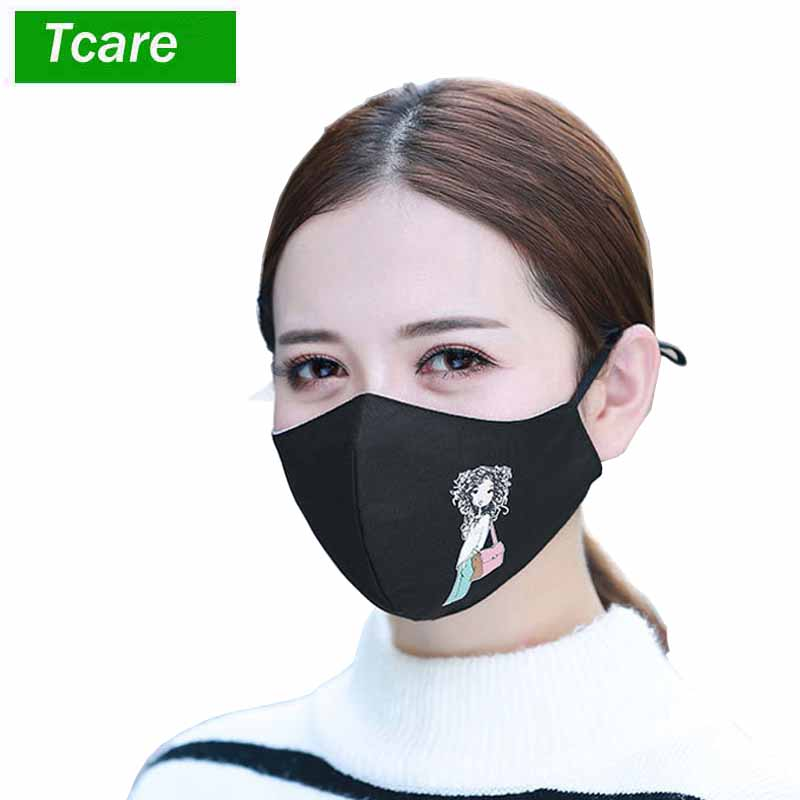 Delightful Colors And Exquisite Workmanship 1pcs Fashion Girls Face Mouth Mask Anti Dust Mask Filter Windproof Mouth-muffle Bacteria Proof Flu Face Masks Care Reusable Famous For Selected Materials Novel Designs