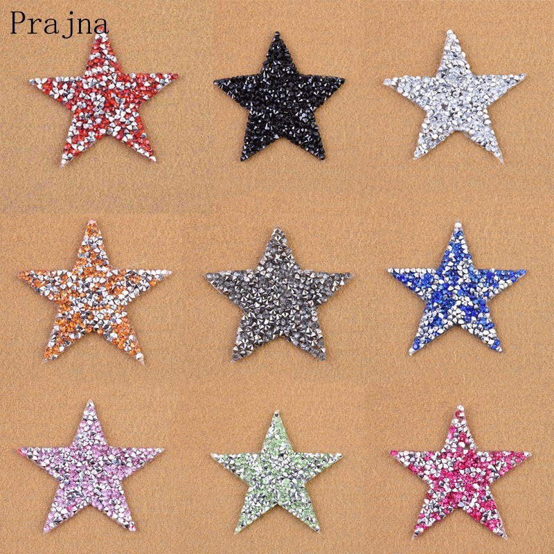 Detail Feedback Questions about Prajna Multi color Rhinestone Star Iron On  Patches For Clothes Diamond Patch Applique Stickers On Backpack Stripe  Decoration ... 28c70b9754dd