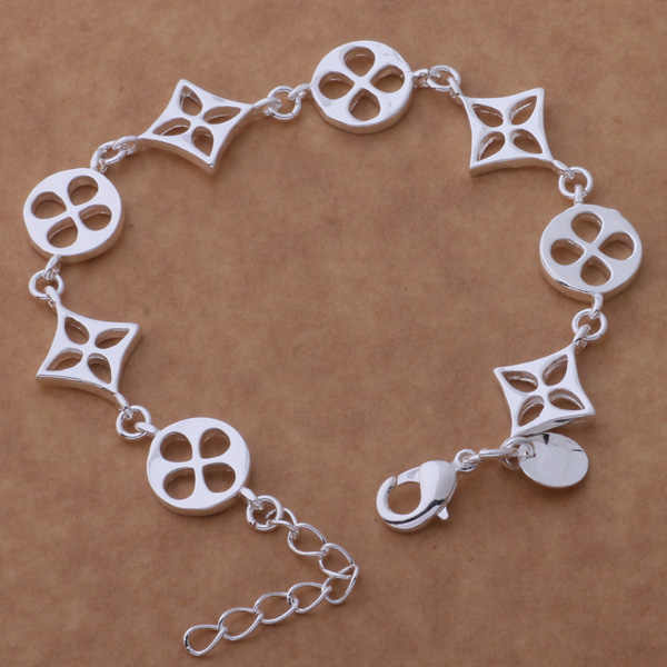 AH172 Wholesale Lucky Silver Color Charm Bracelets For Women Popular Fashion 925 Jewelry Bling-bling /ehcamyja Ajlajasa