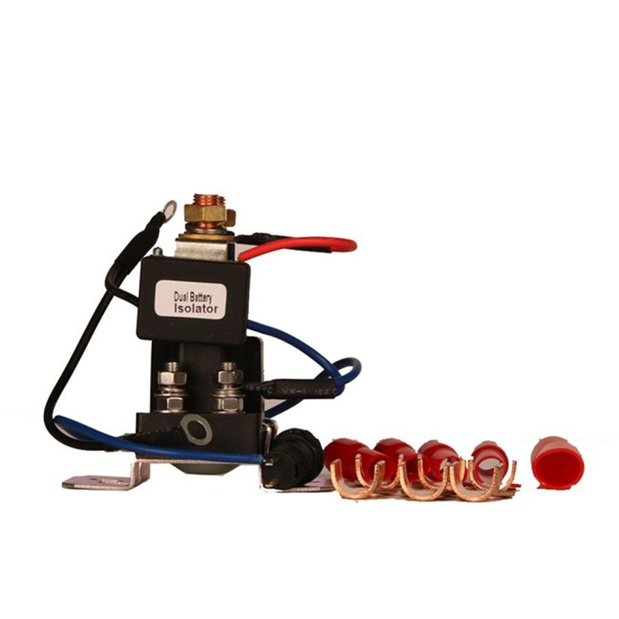 1 pc 12 V 200 ampères isolateur de batterie et relais 4 bornes double batterie Auto batterie interrupteur de secours contrôleur relais pour voiture piste