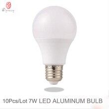 Dynasty 10Pcs/Lot LED Bubble Bulb E27 Globe Aluminum 7W 85-265V SMD Table Lamp Wall Lights Energy Home Store Fixture Saving Bulb