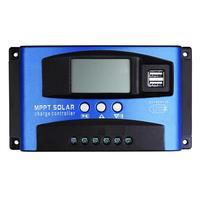 100A/60A/50A/40A/30A otomatik güneş şarj regülatörü MPPT ile çift USB 5V çıkış 12/24V güneş paneli bataryası regülatörü şarj regülatörü