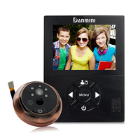 3.0 inch Electronic Door Viewer Infrared Night View Motion Detected Shooting Anti burglary Visual Doorbell Home Use