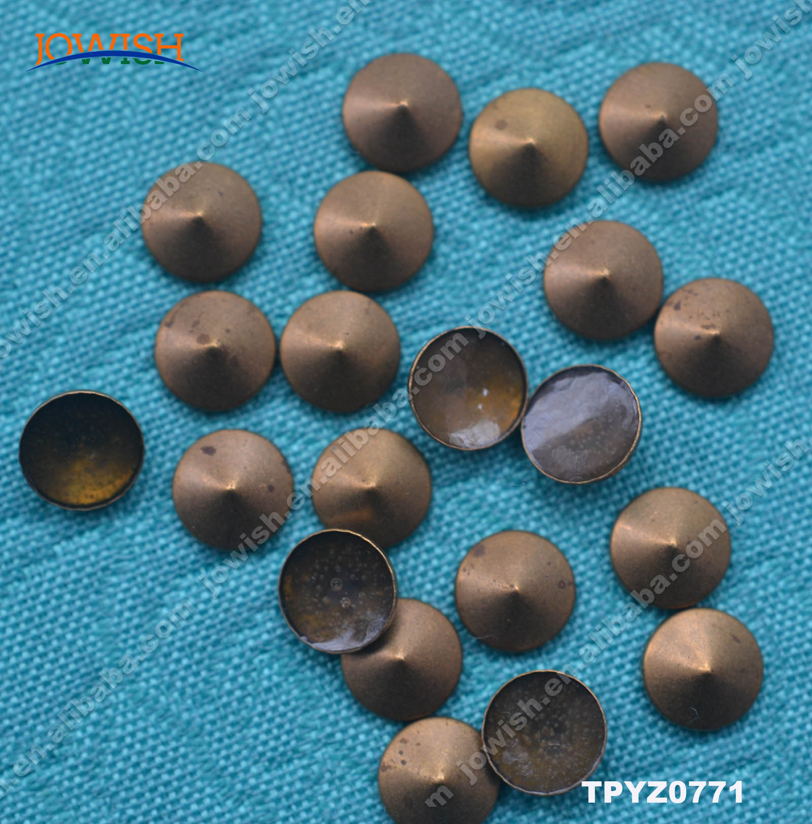 144PCS Metal Rhinestud Ornament Round Iron On Hotfix Studs Motif Gray Gun
