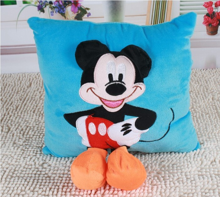 1pcs-35cm-3D-Mickey-Mouse-and-Minnie-Mouse-Plush-Pillow-Kawaii-Mickey-and-Minnie-Soft-Cusion-Gifts-for-Children-1