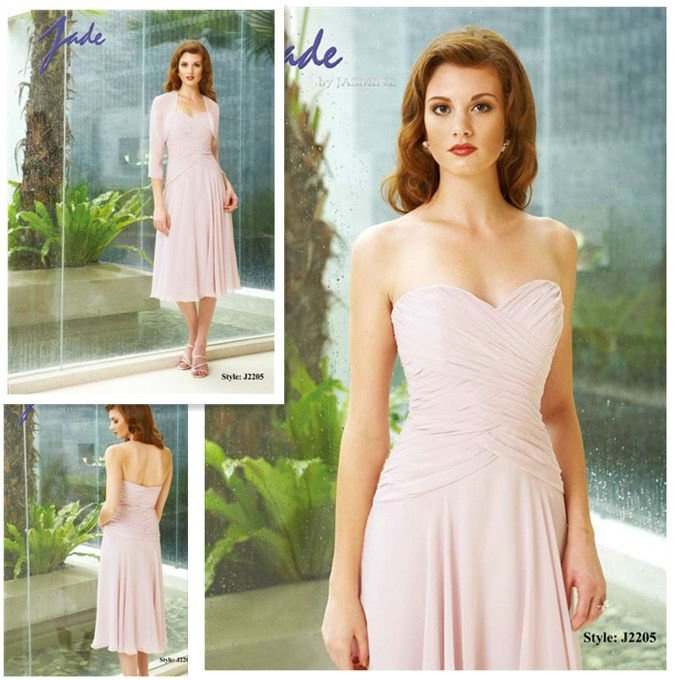 Latest Hot Sell Chiffon A Line Tea Length Vintage Mother
