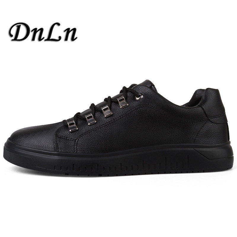 Luxury Brand Men Shoes Leather Casual Black Shoes Mens Spring Autumn Lace Up Men Tenis Fashion Sneakers D30 men s shoes fashion breathable air cushion casual shoes men lace up red blue spring autumn walking jogging shoes mens trainers