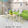 360 degree Flexible Arm mobile phone holder stand 85 cm Long Lazy People Bed Desktop tablet mount for iphone 6 5s