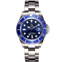 Full Steel Mens Watches Top Brand Luxury Quartz Movment Role Men Clock Male 50m Waterproof Sports