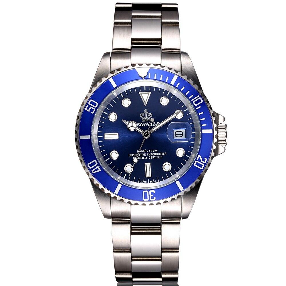 Acero completo hombres relojes Top marca de lujo de cuarzo reloj hombres reloj masculino 50 m Deportes acuáticos hombres reloj 2017 Relogio masculino