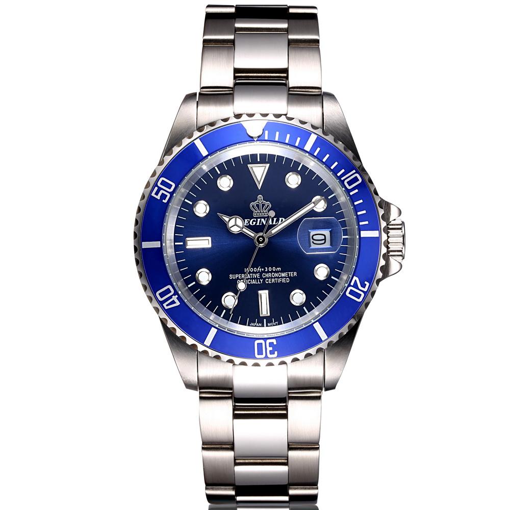 Prix pour En Acier plein Hommes Montres Top Marque De Luxe Quartz Movment Hommes horloge Mâle 50 m Sports Nautiques Hommes Montre-Bracelet 2017 relogio masculino
