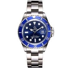 En Acier plein Hommes Montres Top Marque De Luxe Quartz Movment Hommes horloge Mâle 50 m Sports Nautiques Hommes Montre-Bracelet 2017 relogio masculino