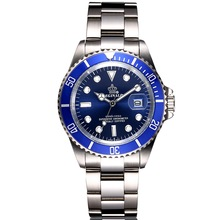 Полный Сталь Для мужчин S Часы лучший бренд класса люкс кварцевые часы Для мужчин часы мужской 50 м Водные виды спорта Для мужчин наручные часы 2017 relogio Masculino