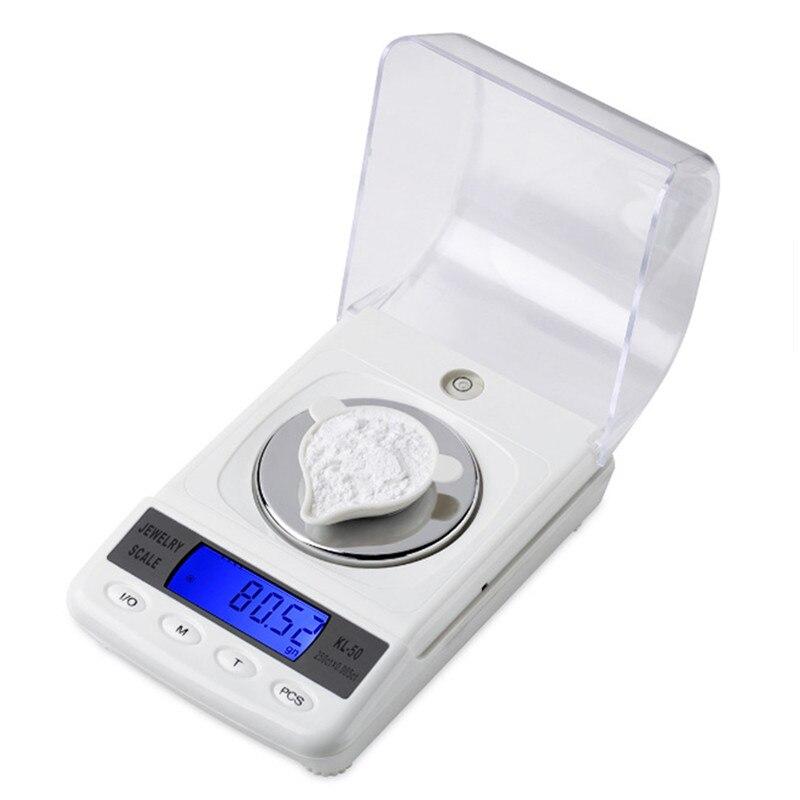 Balance de bijoux de diamant numérique portable de poche électronique de haute précision 50g/0.001g