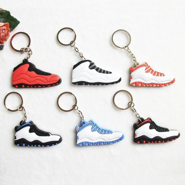 Mini Silicone Jordan 10 Keychain Bag Charm Woman Men Kids Key Ring Gifts  Sneaker Key Holder Pendant Accessories Shoes Key Chain 65c3c606c79c