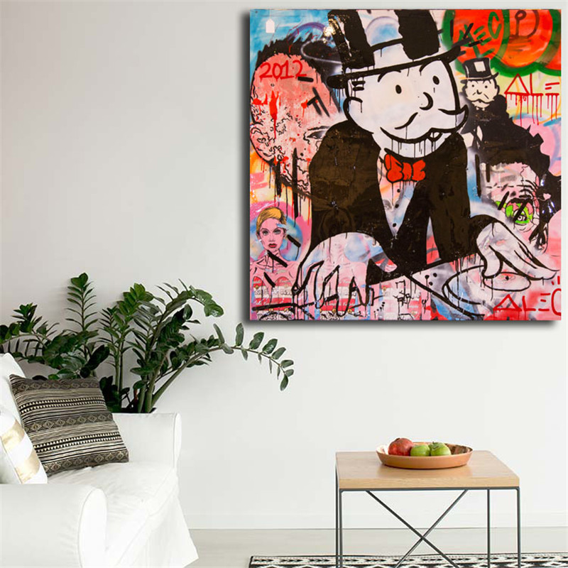 Alec Monopolyingly Wallpapers Wall Art Canvas Poster And Print Canvas Painting Decorative Picture For Bedroom Home Decoration in Painting Calligraphy from Home Garden
