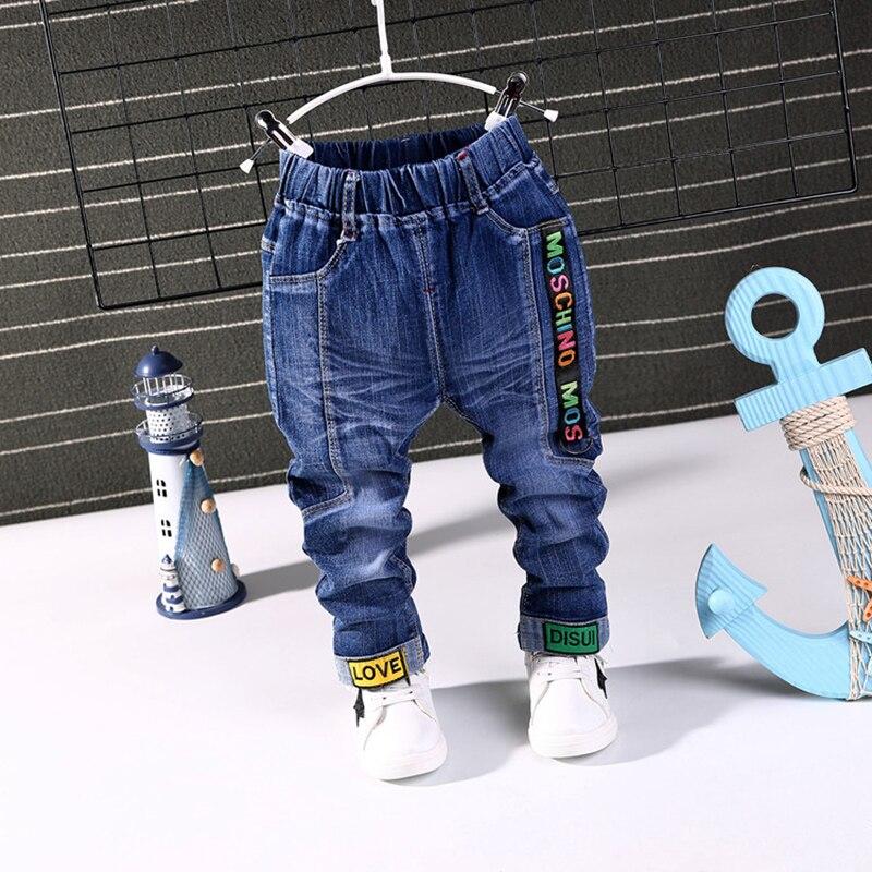 Responsabile 2019 Nuovo Autunno Della Molla Di Modo Lettera Bota Dei Jeans Dei Ragazzi Dei Jeans Del Bambino Pantaloni Casual Capretti Di Modo Jean Ragazzo Pantaloni Dei Bambini Dei Pantaloni Di Jeans 1-6y