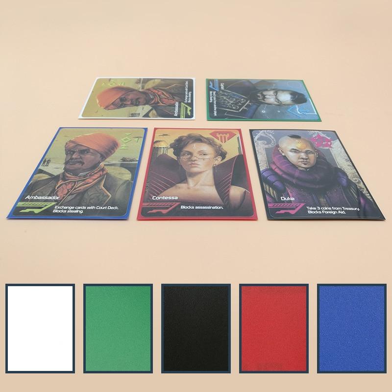 50 ชิ้น / เซ็ตบัตรสีหลายแขน 66 * 91 มิลลิเมตรผู้ถือบัตรป้องกันสำหรับ yugioh โปเกมอน 88 * 63 มิลลิเมตรการ์ดเกมกระดาน