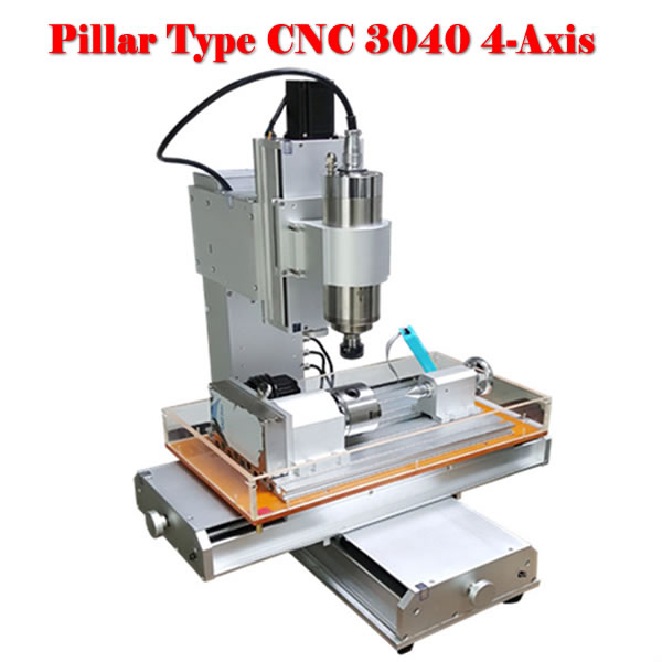 No tax to Russia high performance 4axis 3040 cnc router carving machine for wood metal stone no tax to russia miniature precision bench drill tapping tooth machine er11 cnc machinery