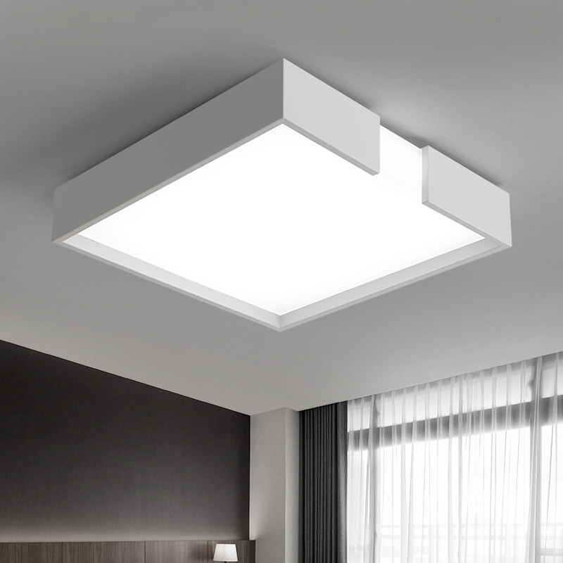 LICAN Modern led ceiling Chandelier lights lamp for living room bedroom Minimalism Black or White ceiling chandelier fixtures black or white rectangle living room bedroom modern led ceiling lights white color square rings study room ceiling lamp fixtures