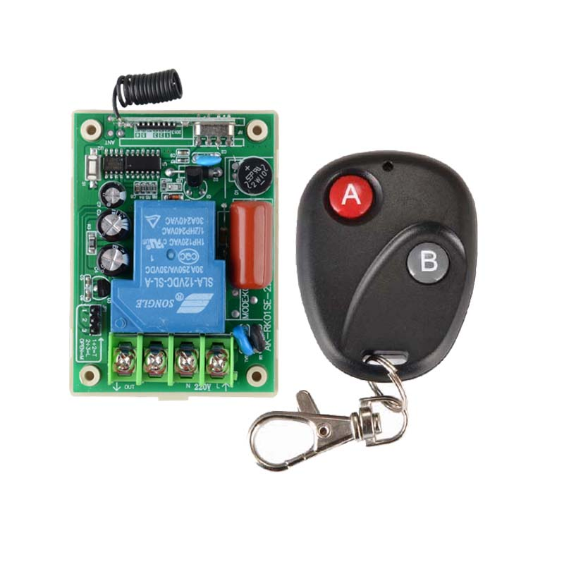 433.92Mhz Radio Transceiver RF Wireless Remote Control Switch System 220V 30A light/Lamp LED water pump electrical machine ON OF 220v wireless remote control switch system rf 4 receivers 3transmitter for led light lamp freeshipping