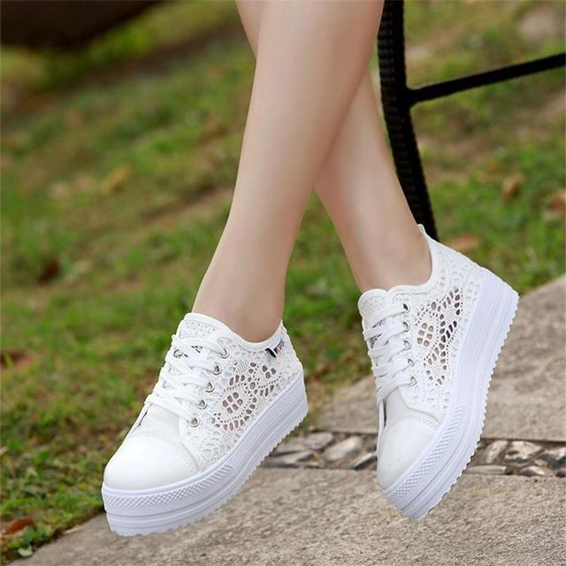 7fddf42dff43b 2018 Fashion Summer Women Casual Shoes Lace Up Comfortable Leisure Female  Flat Ladies Shoes Footwear Women Vulcanize Shoes DC42