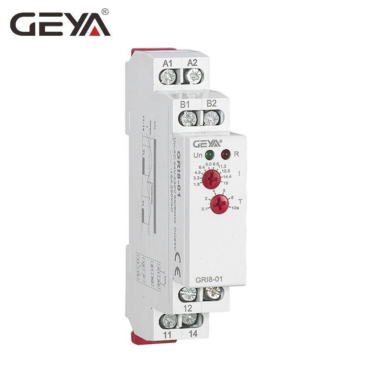 Freies Verschiffen GEYA GRI8-01 Strom Überwachung Relais Strombereich 8A 16A AC24V-240V DC24V Überstromschutz Relais