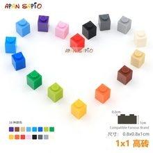 45 adet/grup DIY blokları yapı tuğlaları kalın 1X1 eğitim birimi inşaat oyuncakları çocuklar için lego ile uyumlu