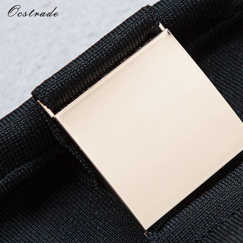 Ensemble Rayonne Deux 2 D'été 2017 noir Haut Ocstrade Et Bandage Métaux Femmes Pièces Blanc Pantalons Piste Pièce De Sexy Balck Découpe Cultures EqBZp