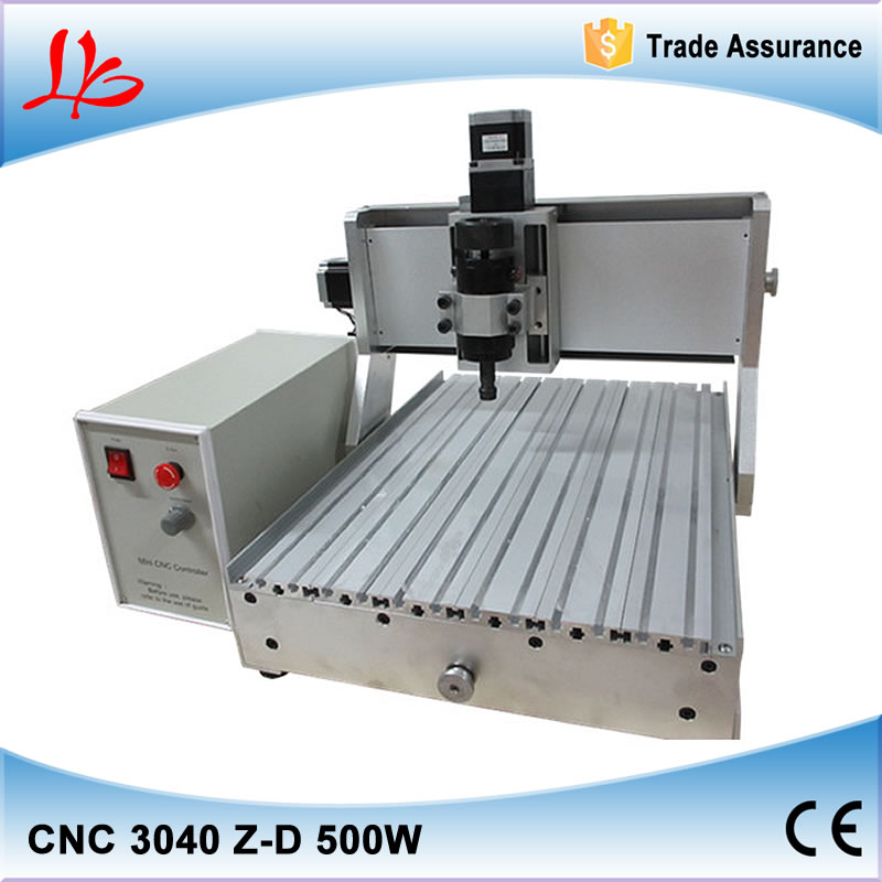 Assembled & tested well! LY CNC 3040 Z-D 3 axis CNC Router for woodworking 500W for large area mini cnc engraving machine cnc 5axis a aixs rotary axis t chuck type for cnc router cnc milling machine best quality