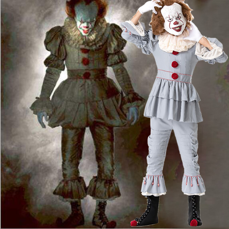 Stephen Kings It Costumes Pennywise Costume Women Joker The Clown Cosplay Costume Girls Fancy Dress Halloween Without Mask Novelty & Special Use Holidays Costumes