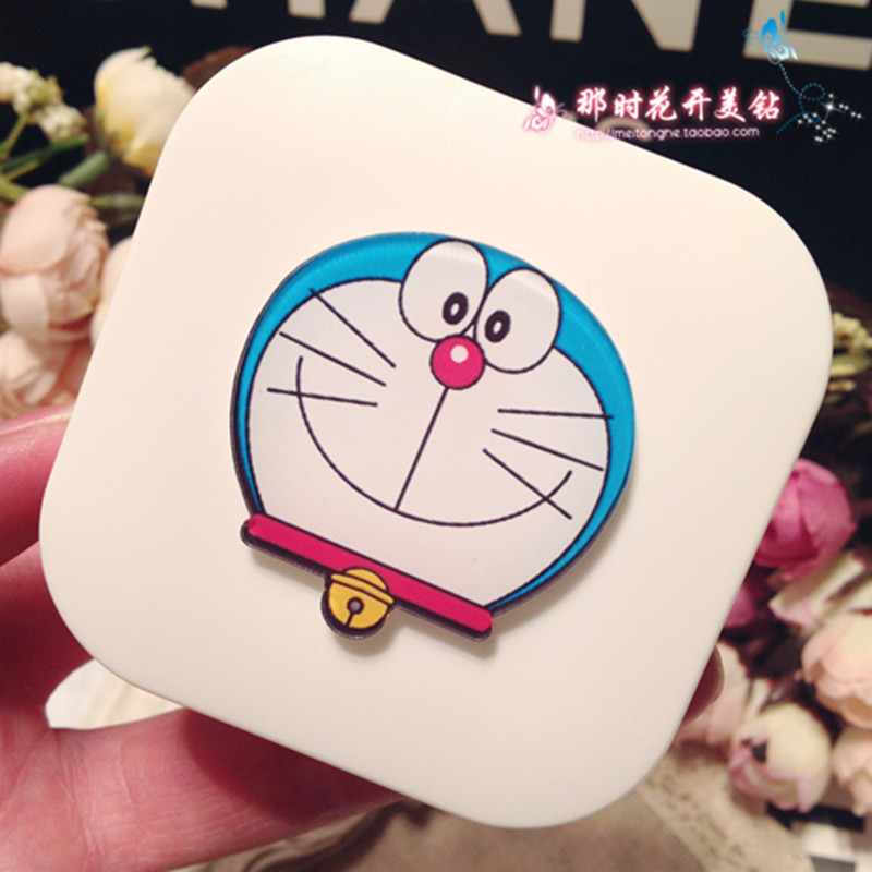 LIUSVENTINA DIY acrylic cute Doraemon pattern contact lens case for eyes contact lenses box for glasses