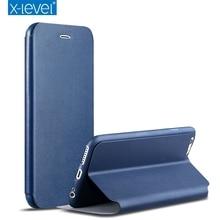 X Уровня Люкс Высокое Качество Классический Флип Кожаный Чехол Для iPhone 7 Плюс 6 6 S Plus SE 5 5S Откидная Крышка для iPhone 7 Плюс 6 Плюс случае