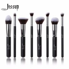 2017 jessup brushes 8pcs Foundation blush Liquid Kabuki brush Makeup Brushes Tools set Beauty Cosmetics kit T053