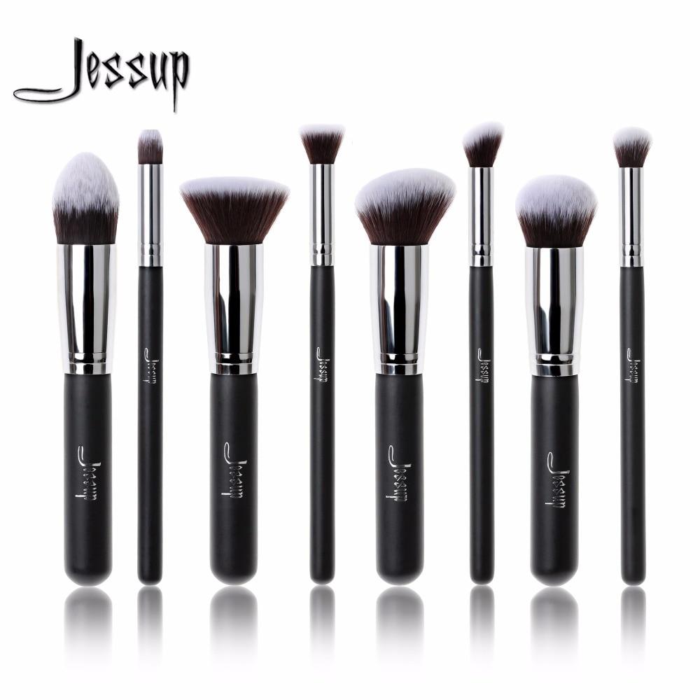 Jessup brushes 8pcs Foundation blush Liquid Kabuki brush Makeup Brushes Tools set Beauty Cosmetics kit T053 jessup 5pcs black gold makeup brushes sets high quality beauty kits kabuki foundation powder blush make up brush cosmetics tool