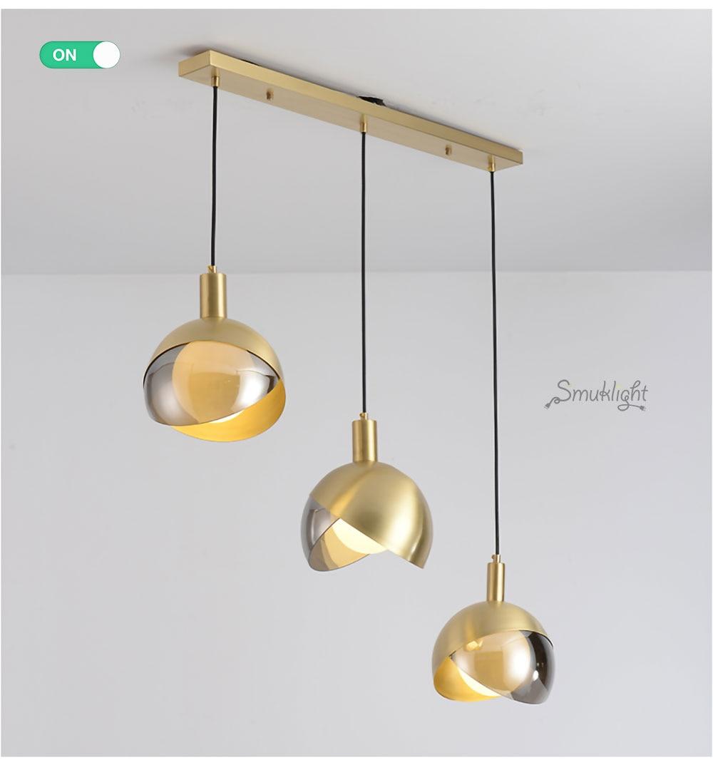 全铜床头小吊灯玻璃吊灯_11