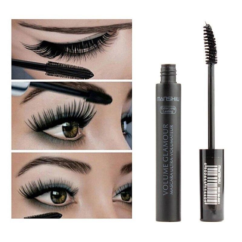 1Pc Quick Dry Fiber Long Thick Curling Lengthening  Mascara Natural Eyelash Paste Eye Lashes Curler Makeup Cosmetics TSLM2