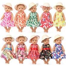 Nuevo Bebé muñeca accesorios 10 estilo bebé 18 pulgadas Niña Americana muñeca  sombrero de paja falda a42d2e38a89