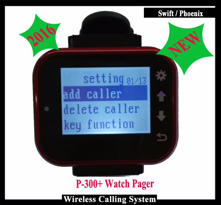 Wrist Pager Watch For  Restaurant Kitchen Equipment Wireless Waiter Call Calling System With Rechargeable Battery one set wireless system waiter caller bell service 1 watch wrist pager with 5pcs table customer button ce passed