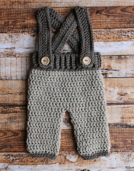 free shipping, Crochet newborn pants, baby overalls, newborn suspender trousers Photography Prop 100% cotton