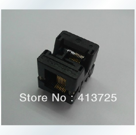 Imports of IC test socket OTS-16 (28), -0.635-02 of burning plastic 3.94 pin spacing of 0.635 import ots 28 0 65 01 burning seat tssop28 test programming